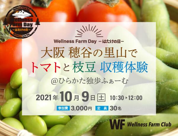 10月9日【Wellness Farm Day -はたけの日-】枝豆・トマト収穫体験@ひらかた独歩ふぁーむ